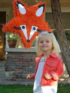 Fox Pinata....because Im going to throw Sydney a fox party in honor of Mr.Fox.