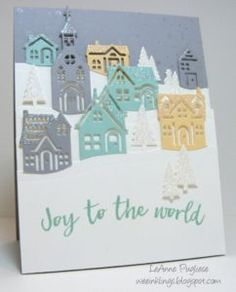 Hope your week is going well so far! Stamp Ink Paper has a color challenge this week: It wasn't my in. Christmas Cards 2017, Christmas Hearts, Stampin Up Christmas, Xmas Cards, Holiday Cards, Diy Christmas, Card Making Inspiration, Making Ideas, Stampin Up Weihnachten