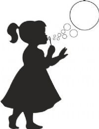 Imgs For > Silhouette Little Girl Blowing Bubbles Girl Silhouette, Silhouette Portrait, Ballerina Silhouette, Silhouette Images, Blowing Dandelion, Blowing Bubbles, Kids Wall Decor, Crayon Art, Painted Rocks
