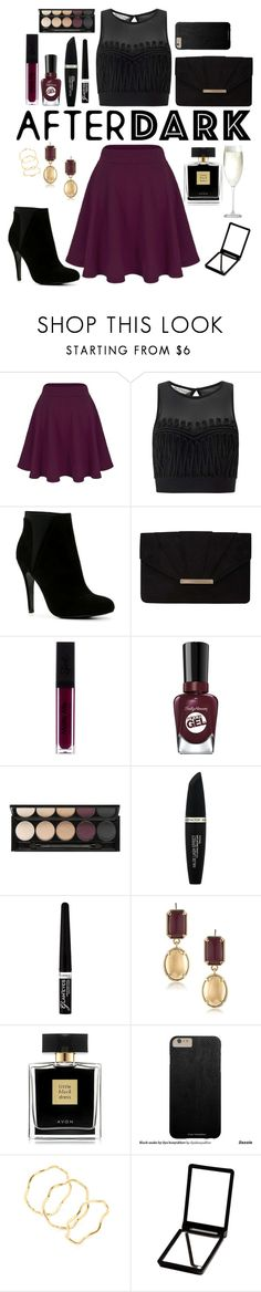 """""""Have a Party this Night!"""" by lexisamskywalker ❤ liked on Polyvore featuring Miss Selfridge, ALDO, Dorothy Perkins, Sally Hansen, Witchery, Max Factor, Rimmel, 1st & Gorgeous by Carolee, Avon and Gorjana"""