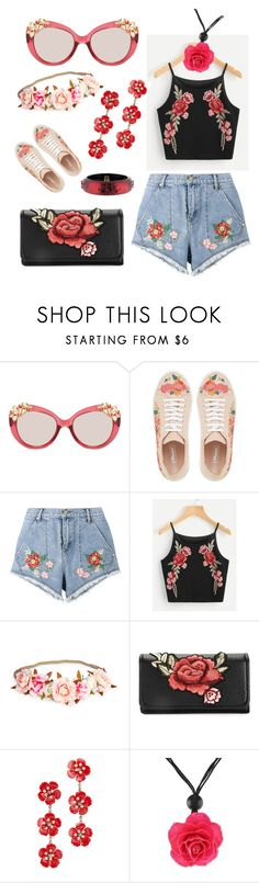 """""""Red Hot Style for A Red Hot Summer!"""" by madhatcat ❤ liked on Polyvore featuring Jimmy Choo, Dune, House of Holland, Jennifer Behr, NOVICA and Alexis Bittar"""