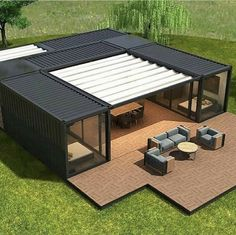 Building A Container Home, Container Buildings, Container Architecture, Architecture Design, Container Home Plans, Sea Container Homes, Storage Container Homes, Tiny House Design, Modern House Design