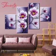 Tupperware, Purple Flowers, Mosaic, Cross Stitch, Gallery Wall, Embroidery, Decoration, Diamond, Frame