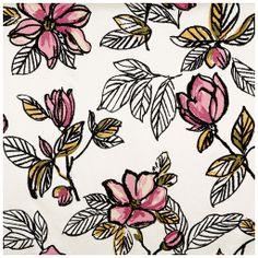 Tecido flocado floral rosa - tecdec Referência: M-10674