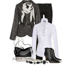 A fashion look from October 2014 featuring white jacket, rick owens jeans and leather booties. Browse and shop related looks.