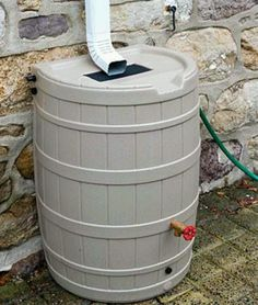 Rain water catcher so you don't need to use fresh water every time you're gardening. Really helpful in areas like Houston where it only rains once in a while, but when it does, it pours!