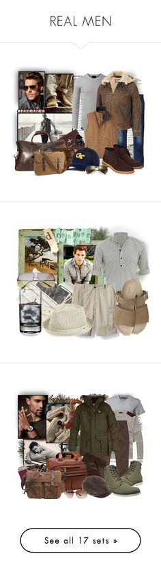"""""""REAL MEN"""" by tasha1973 ❤ liked on Polyvore featuring American Coin Treasures, FOSSIL, River Island, Under Armour, Wilsons Leather, Herschel Supply Co., Uniqlo, Mountain Khakis, Top of the World and Ray-Ban"""