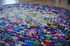 coiled knit rug