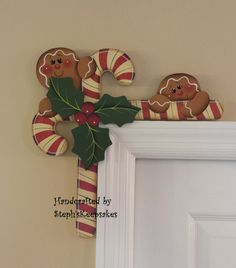 Hand+Painted+Gingerbread++and+Candy+Canes+Door+by+stephskeepsakes,+$19.95