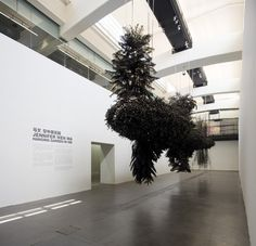 Jennifer Wen Ma, 'Hanging Garden in Ink', 2012, 1500 living plants, 400 kg of Chinese ink, 20 x 8 x 3 meters, at UCCA Beijing. Courtesy of UCCA.