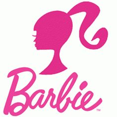 The logo used for Barbie is sometimes a logotype, sometimes a logomark and as we see to the left, sometimes a combination mark. The style is distinctive regardless, particularly with that 'Barbie pink' colour used in the design. Barbie Tattoo, Barbie Fairytopia, Barbie Birthday Party, Barbie Party, Barbie Furniture, Bolo Barbie Paris, Popular Logos, Bad Barbie, Barbie Barbie
