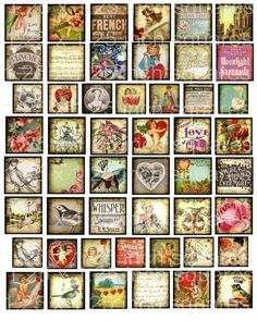 WHiMSiCaL VaRieTy 1 inch 125 image block by LandofEnchantment, $3.98