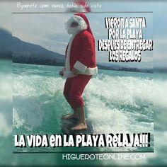 Atrapado Santa en la playa!!! se tomó la semana libre después de tanto trabajo  #santa #santaclaus #navidad #findesemana #findeaño # #vacaciones #paquetes #paseos  #promocion #paquetes #trabajo #arenitaplayita #Higuerote #Barlovento #Miranda #Venezuela #turismo