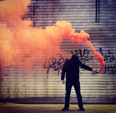 orange smoke bomb  favorable universe