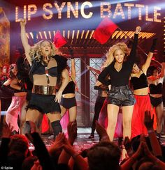 Running it: Beyonce made a surprise appearance on Lip Sync Battle on Thursday and joined Channing Tatum while her performed to her hit song Run The World