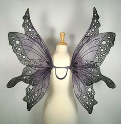 Black fairy wings to go with my wedding dress