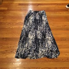 H&M Blue and Black Maxi Skirt Lightly worn. Excellent condition H&M Skirts Maxi