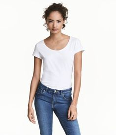 White cotton t-shirt H&M