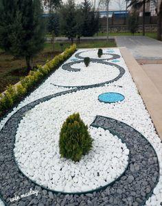Cheap Landscaping Ideas, Stone Landscaping, Modern Landscaping, Front Yard Landscaping, Front Yard Garden Design, Backyard Garden Design, Backyard Walkway, Small Garden Landscape, Garden Architecture