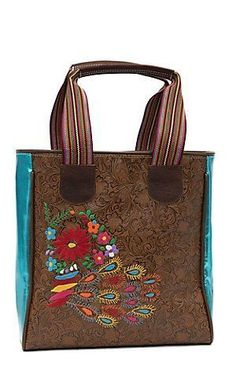 2bbd7210b807 Consuela® Brown Tooled Glamity Classic Tote