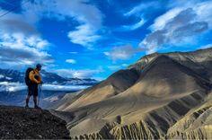 Trekking near Muktinath in Annapurna Region of #Nepal.