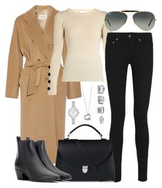 """""""Untitled #2628"""" by briarachele on Polyvore featuring MaxMara, See by Chloé, Yves Saint Laurent, Ray-Ban, The Cambridge Satchel Company, Elsa Peretti, Kate Spade and Forever 21"""