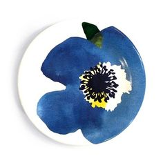 Pratinho Floral Blu   Ceramic Blue Floral plate developed by MUUG