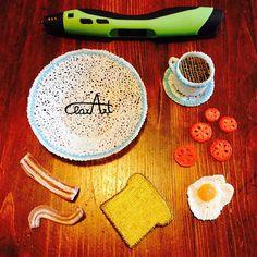 3D Pen Breakfast ClarArt - creations & ideas