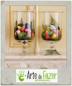 Dicas para uma Decoração de Páscoa bem fácil ~ Arte De Fazer | Decoração e Artesanato