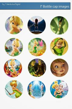 Folie du Jour Bottle Cap Images: Tinkerbell free digital bottle cap images