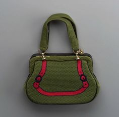 1950s, Italy - Handbag by Roberta di Camerino - Wool and leather, embroidered