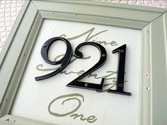 outdoor paint, framed canvas and house numbers: outdoor plaque that's easy to read