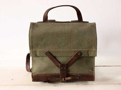Canvas and leather little SWISS RUCKSACK - Rue Des Louves on Etsy