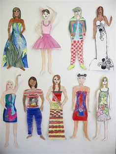 In this project, graders developed basic skills in determining and drawing the proportions of the human figure and face in order to crea. Middle School Art, Art School, Human Body Proportions, Proportion Art, Art Studios, Art Lessons, Art Projects, Princess Zelda, Style Inspiration