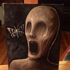 My Latest Horror Paintings Created With Oil - Mari Arte Horror, Horror Art, Creepy Paintings, Dark Art Paintings, Sad Girl Art, Creepy Art, Creepy Dolls, Demon Art, Halloween Painting