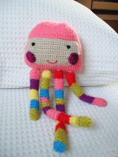 agualila: Crochet y lanas de colores.