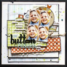 Great color combo & layering. I love the eclectic mix of embellishments! @Georgia Keayes #lilybeedesign #layouts