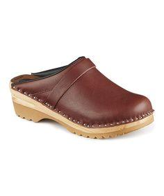 Look at this #zulilyfind! Umber Chef Leather Clog #zulilyfinds