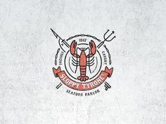 46 Ideas Seafood Restaurante Logo New Orleans Create Logo Design, Best Logo Design, Brand Identity Design, Branding Design, Corporate Branding, Logo Branding, Winery Logo, Origami Logo, Fantasy Logo