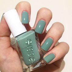 Can't get enough of this dreamy gray-green. 'beauty nap' from the essie gel couture 'first look' collection.