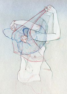Artist; Adara Sanchez Anguiano, illustration for Plástica Magazine. July 2011 {female anatomy figurative drawing}