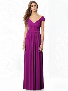 Lovely full-length Radiant Orchid option for your bridesmaids! #radiant #orchid #inspirations After Six Bridesmaids Style 6697 http://www.dessy.com/dresses/bridesmaid/6697/