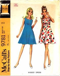 Vintage McCall's Sewing Pattern  9781
