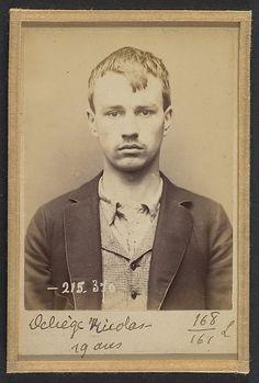 Deliège. Nicolas, François. 19 ans, né à Ixelles (Belgique). Tailleur d'habits. Anarchiste. 9/3/94.