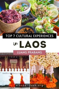 Experience the beauty of Lao culture with these 7 unique and special things to do in Luang Prabang. Laos Travel, Thailand Travel, Asia Travel, Laos Culture, Pakse, Vientiane, Festivals Around The World, Luang Prabang, Cultural Experience