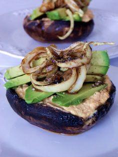 Portobello Cheezeburgers: Raw Food Recipe