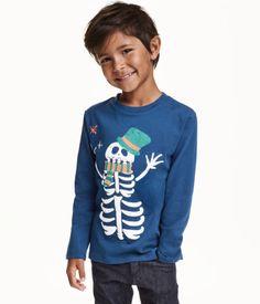 T-shirt à manches longues en jersey souple avec impression devant.