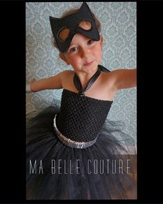 Just listed! Cat Woman tutu by MaBelleCouture. Made to order. Cat Woman black and silver tutu