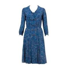 Iconic 1967s Haute Couture Chanel N° 55 364 Silk Dress