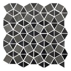 Charcoal Blend Gatsby - Travertine Mosaics Tile - The Tile Shop